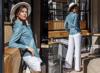 Классическая женская рубашка из искусственной кожи  GR-30450, фото 1