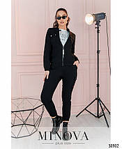 """Костюм жіночий брючний в стилі """"мілітарі"""" з джинсу-стрейч ( добре тягнеться), р. 42,44,46,48,50,52,54 код 3260Ф, фото 3"""