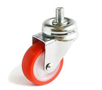 Аппаратные ролики повышенной износостойкости с поворотным кронштейном с отверстием, Ф40 мм, нагрузка 20 кг