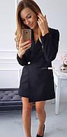 Женское стильное платье-пиджак на пуговице, фото 1