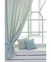 Комплект готовых штор Кантри Синяя Полоска (2 ед.), фото 1