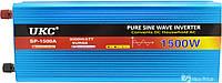 Преобразователь напряжения(инвертор) Ukc 12-220V 1500W с чистой синусоидой (4139)