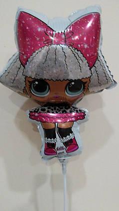 Фольгированные шары мини фигуры Куклы Лол  , 24 смХ 34 см , FLEX METAL (ИспаниЯ )