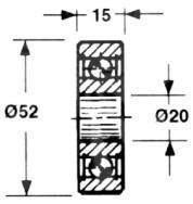 Ролик BAUTZ: Compact 410-460 58.130-A
