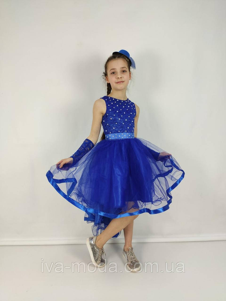 "Платье со шлейфом ""Амалия""/синий"