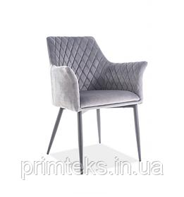 Кресло  Sergio Velvet серый