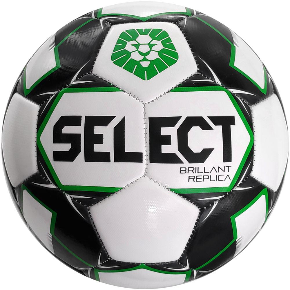 Мяч футбольный SELECT Brillant Replica PFL (011) бело-серый р.5