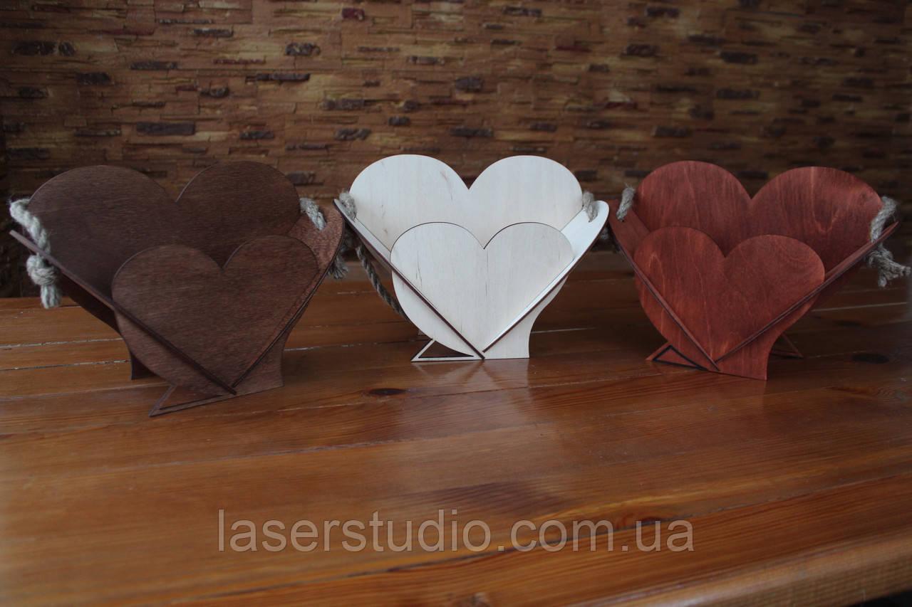 Кашпо для цветов | Деревянная Большая корзина в форме сердца, декор для ваших идей!