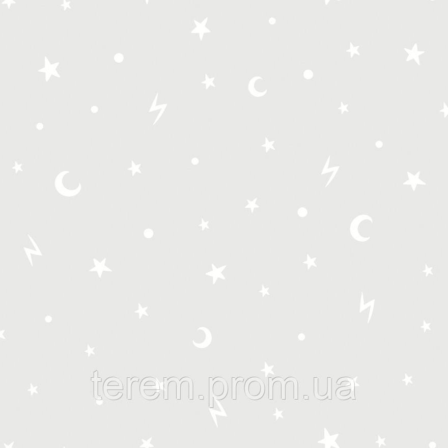 Stars and Moons Grey