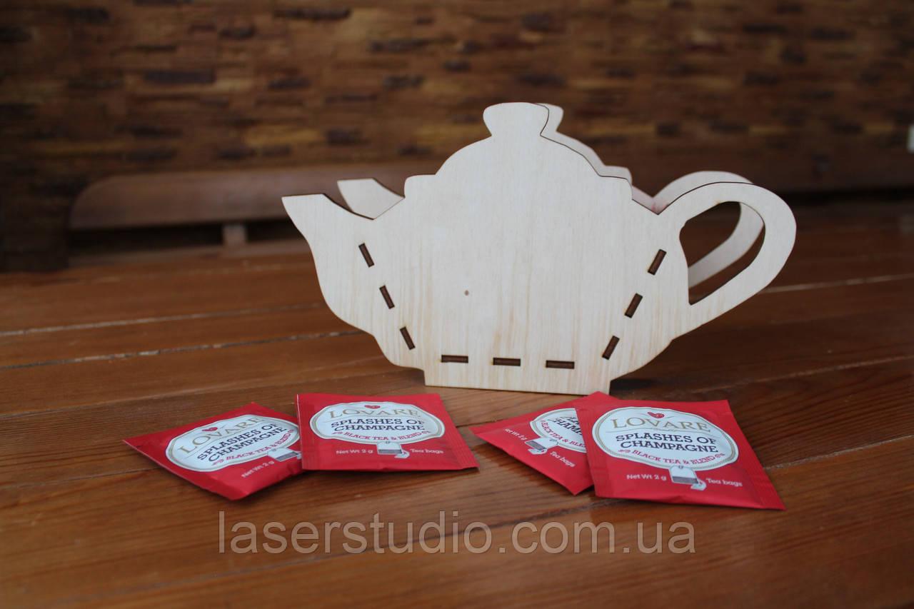 """Деревянная корзинка в форме """"Чайник"""", кашпо для цветов   Декор для ваших идей!"""