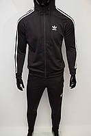 Костюм спортивный мужской Adidas 1120 черный в стиле бренда