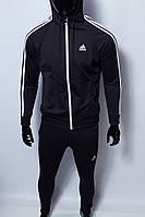 Костюм спортивный мужской Adidas 8905-120 черный в стиле бренда
