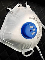 Респиратор маска OxyLine FFP1 c клапаном белый (защита класса ФФП1 OxyLine), фото 1