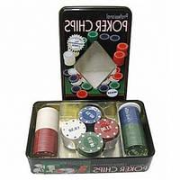 Фишки для покера — 100 шт., фото 1