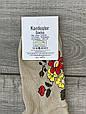 Короткие с цветочной паутиной женские носки хлопок Kardesler 35-40 12 шт в уп микс 4х цветов, фото 4
