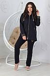 Прогулочный спортивный костюм женский трикотажный, черный, фото 4