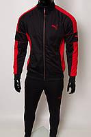 Костюм спортивный мужской PM 8997-106 черный с красным в стиле бренда