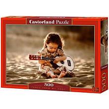 """Пазл Castorland """"Девчонка с гитарой""""  500 ел."""