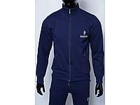 Кофта на молнии трикотажная мужская 754297_2 темно-синяя в стиле бренда