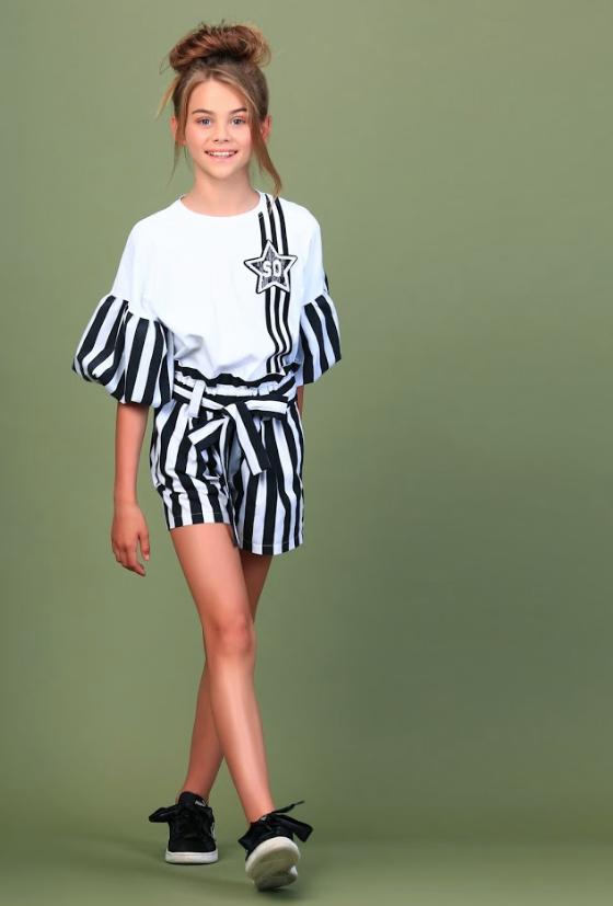 Котоновые летние шорты для девочки тм Моне р-ры 146,152