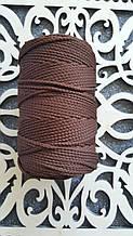 Полиэфирный шнур без сердечника 3мм №12 Коричневый