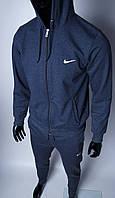Кофта на молнии трикотажная Nike 754296 синяя