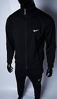 Кофта на молнии трикотажная мужская Nike 754296_2 черная в стиле бренда