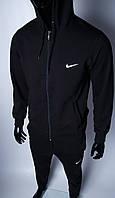 Кофта на молнии трикотажная мужская Nike 754296_3 черная в стиле бренда