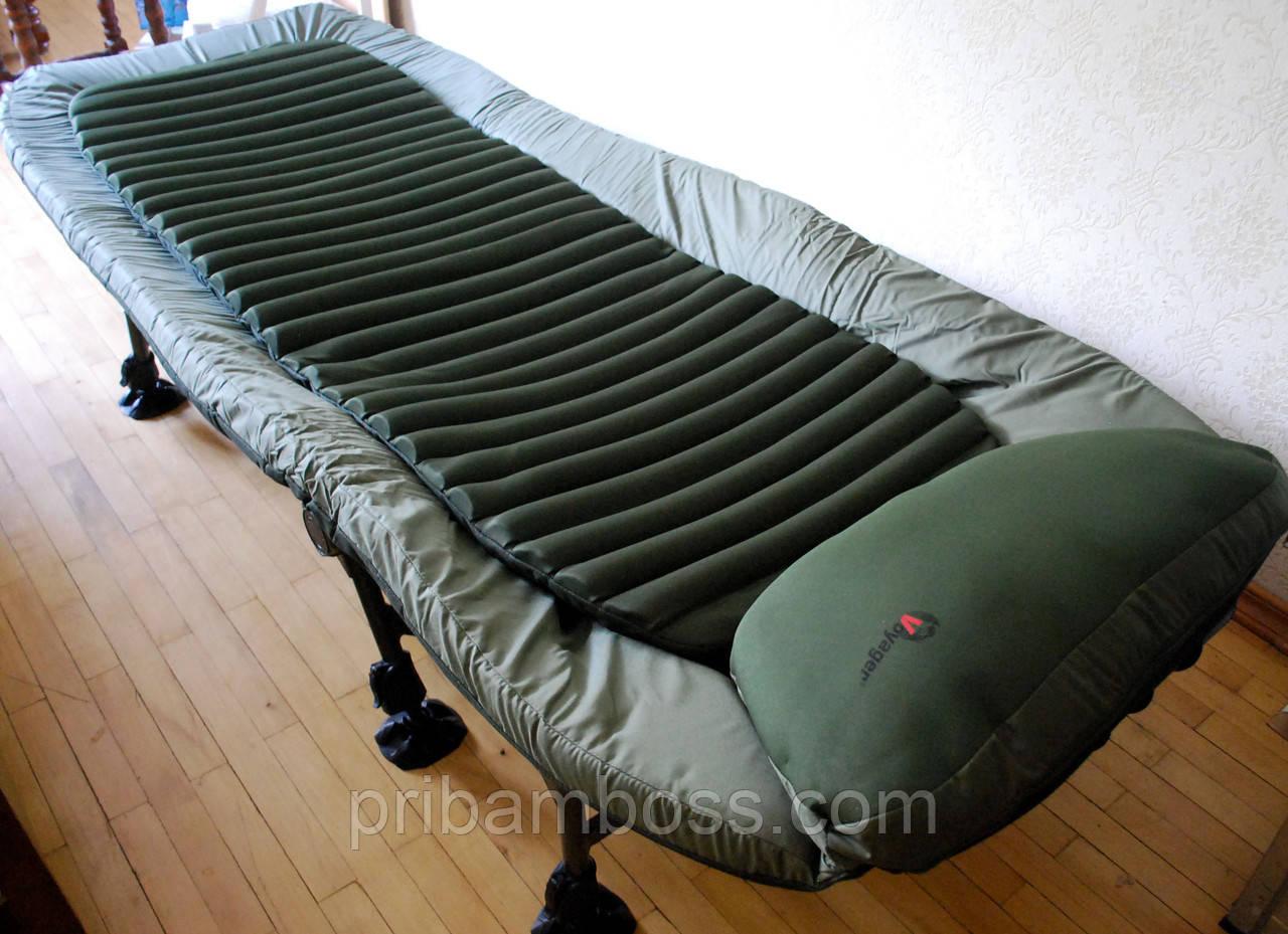 Раскладушка карповая c подушкой  BD660-210218