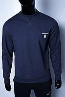 Кофта свитшот трикотажная мужская 630641-2 синяя в стиле бренда