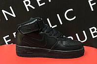 Кроссовки в стиле Air Force 141310 черные 38 размер