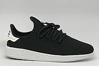 Кроссовки мужские Adidas Originals x Pharrell Williams Tennis Hu 543-2 черные в стиле бренда