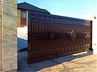 Металлические откатные ворота TM Hardwick ш5000 в2200(дизайн Премиум)