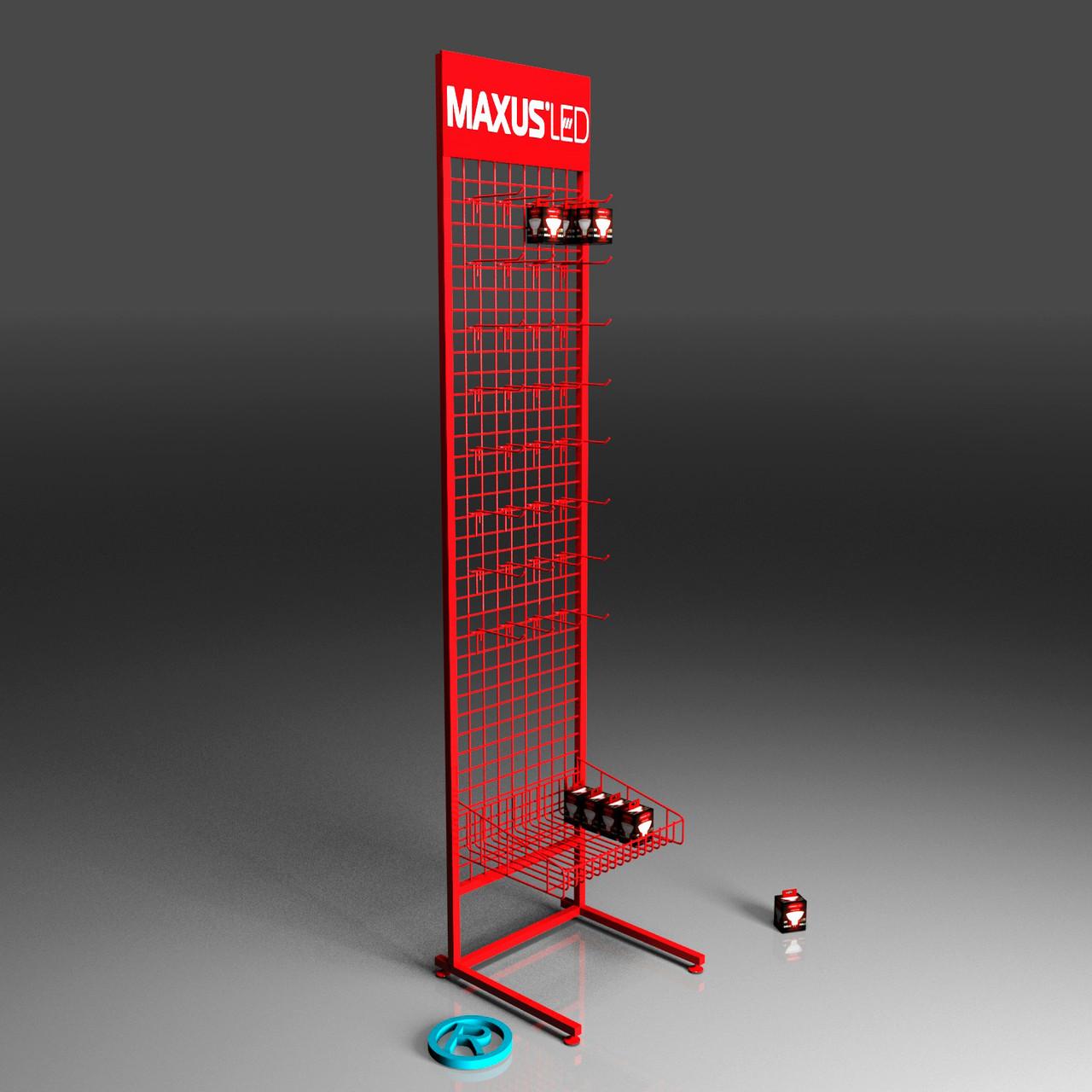 Торговые стойки с крючками для лампочек MAXUS