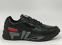 Кроссовки мужские Fila Mindblower 1101-2 черные в стиле бренда