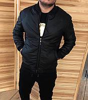 Куртка бомбер демисезонная Insydde Hvz 16373 кожзам черная