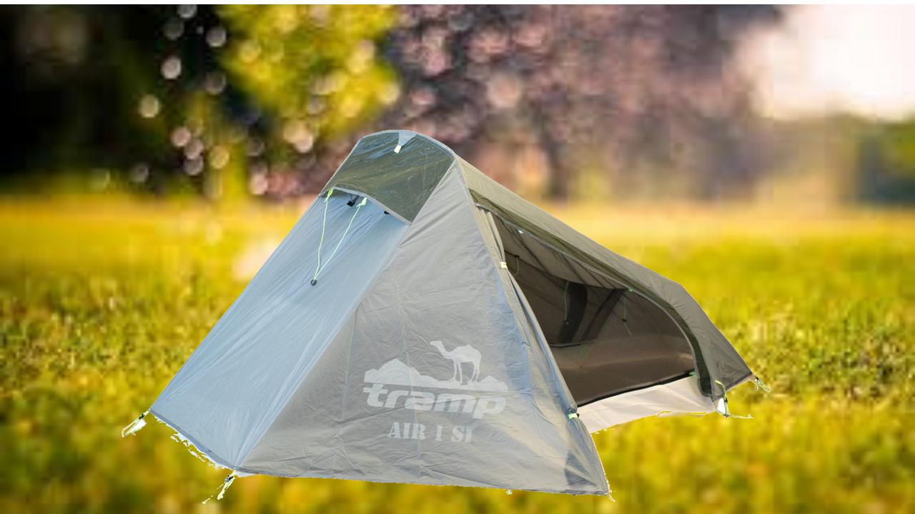 Палатка Tramp Air 1 Si GREY. Сверхлегкая палатка Air 1 м Tramp. Одноместная палатка. палатка туристич