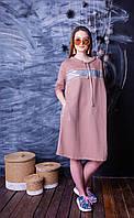 Модное Хлопковое Платье-Туника  в Разных Цветах