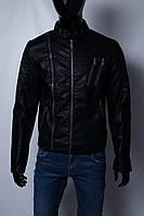 Куртка мужская демисезонная кожзам GS 067741 черная в стиле бренда
