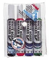 Маркер для доски Набор маркеров для доски Maxiflo 6.0 мм Pentel MWL5M-4