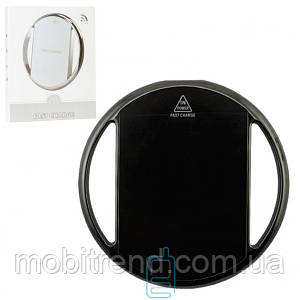 Беспроводное зарядное устройство Fast Charger 002 хром-кольцо black