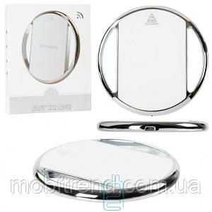 Беспроводное зарядное устройство Fast Charger 002 хром-кольцо white