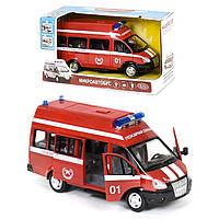 "Машина ""Пожарная охрана"" инерционная  машинка на батарейках | Star Toys"