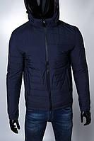 Куртка зимняя Sls 15443 на меху синяя