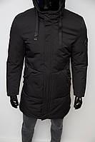 Куртка удлиненная зимняя Chs Soft Shell 727 черная
