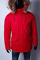 Парка мужская зимняя Kings W 1544_1 красная в стиле бренда 56 размер