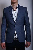 Пиджак льняной Luis Berg 559752 синий 52 размер