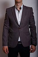 Пиджак льняной Luis Berg 799564 бургундий