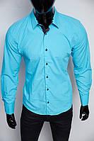 Рубашка мужская Dos 16050 синяя