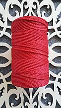 Полиэфирный шнур без сердечника 3мм №14 Красный мак